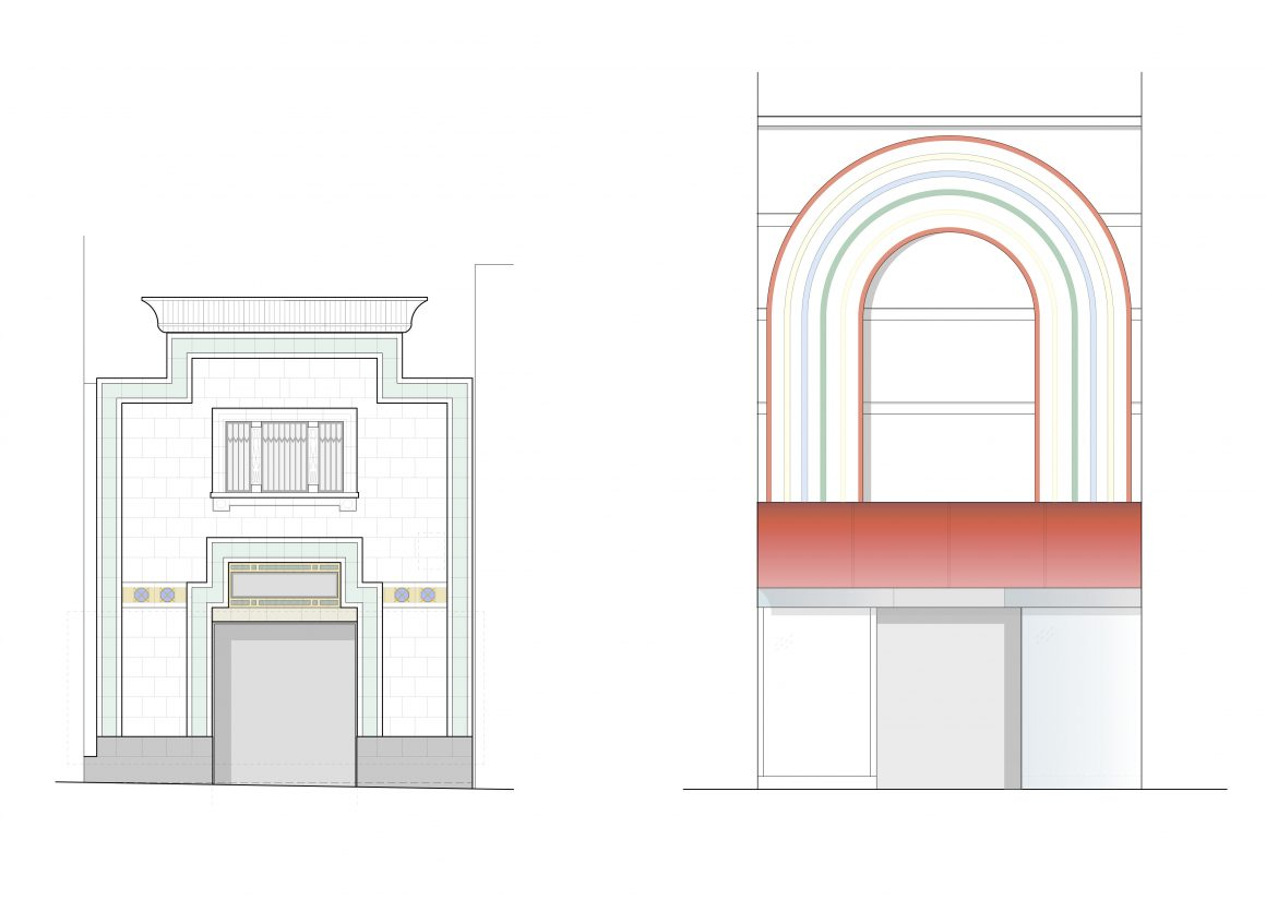 Reliance Arcade Brixton Road and Electric Lane Elevations Hugh Cullum Architects